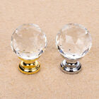 Diamond Ball Crystal Glass Pull Handle Kitchen Cabinet Drawer Closet Door Knobs
