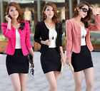 Hot Korean Women's Round Neck Double-breasted Slim Suit Jacket Short Style new