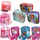 Character Disney Insulated Raised Front Lunch Bag Snack Box Bottle Sets Branded