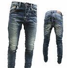 NOVITA' PANTALONI UOMO BLU JEANS denim vintage slim fit always 7064