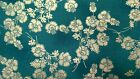 1 Half Metre Hoffman Mary May Teal and Silver Floral  Print Fabric -100% cotton