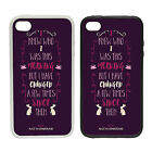 Alice Quote - Rubber and Plastic Phone Cover Case - Wonderland Purple Text Type