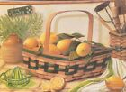 "LA002 Lemon Basket Linda Lane 5""x7"" framed or unframed print green depression"