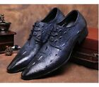 2 Color US Size 5-11 New Trendy Texture Leather Mens Dress Formal Oxfords Shoes