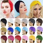 Women's Unisex Indian Style Stretchable Turban Hat Hair Head Wrap Cap Headwrap