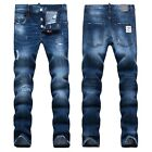 New Mens Italy Style *Distressed *Destroy Pants Blue Slim JEANS Trousers D1380T