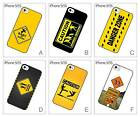Road Sign Caution Warning Hard Back Cover Case for iPhone 5 5S
