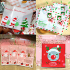 10*10 CM CHRISTMAS TREE / SANTA CLAUS / ENVELOPE / WISHES SOAP COOKIES GIFT BAGS