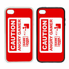 Angry Gamer - Rubber And Plastic Phone Cover Case -  Logo Console Funny Parody