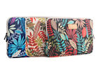Canvas Bohemia Leaves Laptop Sleeve Notebook  Pouch 10 11.6 12 13.3 14 15.6 Inch