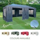 AirWave 6m x 3m Party Tent Marquee Gazebo TWO FREE WINDBARS, Waterproof, 6 Sides