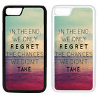 Life Sayings Quotes Printed PC Case Cover - Regret - S-A1214