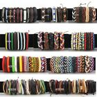 Wholesale Fashion Womens Mens Bracelet Leather Cord Braid Wristband Cool Jewelry