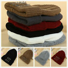 Punk Style Autumn Winter Beanies 3 Pins Fashionable Knitted Bonnets Outdoor Hat