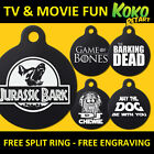 Funny Movie TV Parody Dog Pet Puppy ID Tag Personalised Engraved Round Aluminium $4.9 USD on eBay