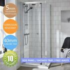 Bi-Fold Shower Enclosure Cubicle Door Side Panel Stone Resin Tray & Free Waste