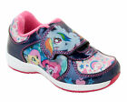 Girls SIZE 6 - 12 Navy Blue Pink Trainers MY LITTLE PONY Touch Fastening NEW
