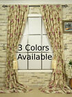 3 Colors Halo Embroidered Concealed Tab Top Dupioni Silk Custom Made Curtains
