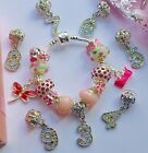 Bithday charm bracelet childs kids age 3 4 5 6 7 8 9 pendant in giftbox or pouch