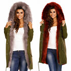 Sexy Parka Winter Coat Trend Blogger Warm Jacket Khaki With Fur P 776