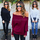 Fashion Ladies Womens Chunky Knitted Hearts Off The Shoulder Top Jumper Sweater