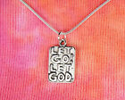 Let Go! Let God. Necklace 925 Stamped Snake Chain Gift Boxed Free Same Day Ship