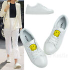 AnnaKastle New Womens Smiley Low-Top Fashion Sneaker White US 5 6 7 8