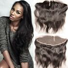 Middle Part 13x4 Brazilian Silk Straight Full Lace Closure baby hair bleach knot