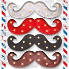 BARBER PRO LAMPADA INSEGNA MOUSTACHE LIGHT CON LUCI LED PER BARBER SHOP