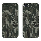 Army Camo Camoflage Printed PC Case Cover - Black white - S-G1254