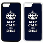 Funny Keep Calm Printed PC Case Cover - Smile Navy - S-G1039