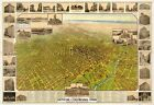 Denver, Colorado, 1908, Town View, 1800's, Old Map Print