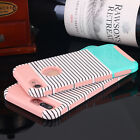 For Apple iPhone X 8/7 Plus Shockproof Hybrid Stripes Ultra Thin Hard Case Cover