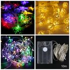 10M 100 LED Wire String Fairy Lights Party Decor XMAS Wedding Christmas Battery