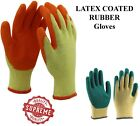 48 PAIRS LATEX COATED RUBBER ORANGE WORK GLOVES BUILDER GARDENING SAFETY GRIP