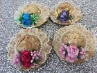 HAIR CLIP HAT WITH FLOWERS HAIR ACCESSORIES FREE DELIVERY