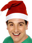 Santa Hat Unisex Red With White Trim Fleece - Buy More Save!! 1, 3, 5 or 10 Lot