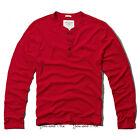 NEW ABERCROMBIE & FITCH L/S SHIRT for MEN * A&F Mason Mountain Henley Tee * Red
