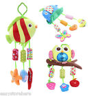 Baby Colorful Lovely Handbell Animal Plush Soft Hanging Bed Bell Rattle Toy