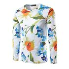 MEN'S Flower Floral 3D Printing Long Sleeve Casual T-Shirt