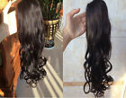Wavy Clip in Hair High Ponytail Human Hai drawstring/ wrap around Wholesale 80G
