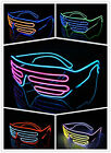 EL Wire LED Light Up Shutter Glasses Two Colors Glow Frame Neon  Party club US