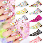 Colorful Flower Pattern Design Nail Art Foil Transfer Sticker DIY Manicures Tool