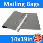 *14x19in* Grey Mailing Bags, Strong Poly Postal Postage Mail, Inc VAT, Free P&P