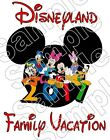 Disneyland Mickey Family 2017 Vacation Iron On T Shirt Fabric Transfer #597