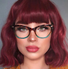 "Cat Eye Vintage Retro ""Ombre""  Women Eyeglasses Blue Green Bottom Tortoise SHADZ"