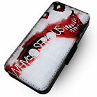 Why So Serious? -Faux Leather Flip Phone Cover Case- Joker Quote Knight Dark Bat