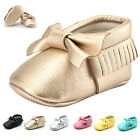 Kids Baby Girls Newborn Crib Boots Toddler Soft Sole Prewalker Shoes 0-12 Months