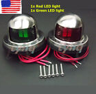 One+Pair+Marine+Boat+Yacht+Pontoon+12V+Stainless+Steel+LED+Bow+Navigation+Lights