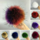 Hot 100% Raccoon  Real Fur Charm Cap Hats Pom Winter for Shoes Accessories